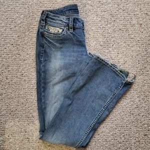 🌻 Silver Boot Cut Jeans w/Embellishments